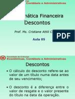 Mat Financ - Aula 5 Descontos