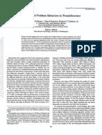 Structure of Problem Behaviors in Preadolescence