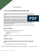encrypted Filesystem on CentOS 5.2