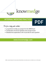 Internal Medicine Practice Questions