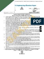 Eamcet 2012 Engineering Paper