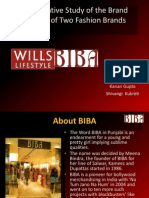 Biba vs Wills Lifestyle comparative study of brand identity