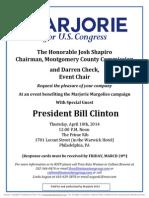 Fundraiser for Marjorie Margolies