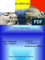 Romania Intre Orient Si Occident