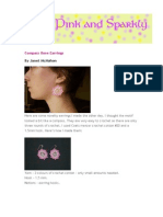 Compass Rose Earrings Pattern