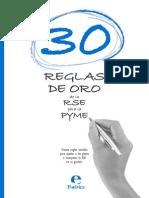 Reglas de Oro de La RSE Para La Pyme