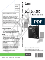Canon PowerShot S90 Camera User Guide  - English
