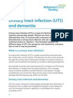 Urinary Tract Infection UTI and Dementia Factsheet
