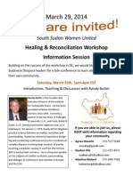 SSWU Healing and Reconciliation Workshop Information Session