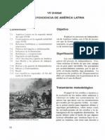 Unidad 7 - La Independencia de America Latina - Secundaria