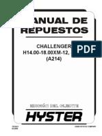 H18.00XM A214 Manual de Repruesto