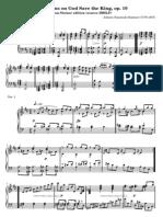 HUMMEL Variations on God Save the King, Op.10