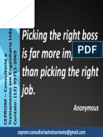 Picking the Right Boss