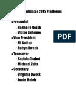 SGO 2015 Campaign Platforms