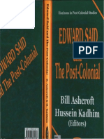 Bill Ashcroft, Hussein Kadhim-Edward Said and the Post-Colonial (2002)