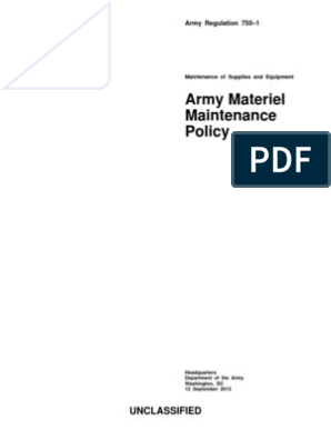 AR 750-1   United States Army   United States Department Of