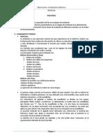 Informe de Laboratorio de Operaciones Unitarias Molienda
