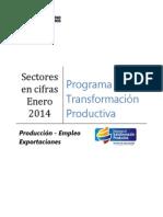 Producción Empleo Exportaciones PTP Enero 2014