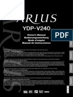 Yamaha Arius Ydp-V240 User Guide