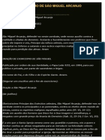 PEQUENO EXORCISMO DE SÂO MIGUEL ARCANJO
