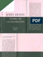 Dewey Teoria de La Valoracion