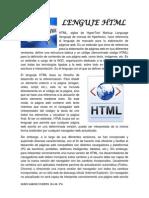 Trabajo 22 Lenguaje HTML