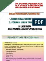 Instruksi Kepala Dinas kabupaten pasuruan_pembekalan CPNS