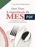 A Experiencia Da Mesa - O Segre - Devi Titus