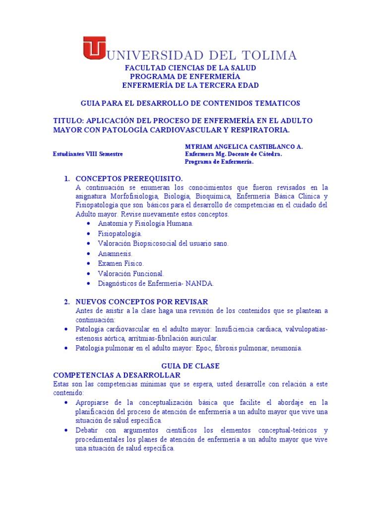Guia Pae Cardio-respiratorio