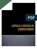 CLASE - ESTÁTICA DE CUERPOS RÍGIDOS