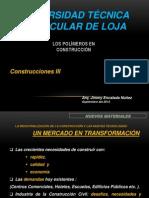 III LOS POLÍMEROS EN CONSTRUCCIÓN