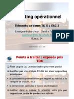 Eléments de cours TD5 Marketing Op. ESC2