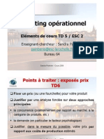 Eléments de cours TD5 Marketing Op. ESC2