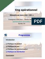 Eléments de cours Mkt Op. ESC2 CM4