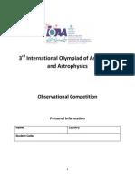 3rdInternationalOlympiadofAstronomy AndAstrophysics