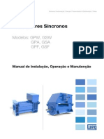 WEG Alternadores Sincronos Gpw Gpa Gpf Gsw Gsa Gsf 12136766 Manual Portugues Br