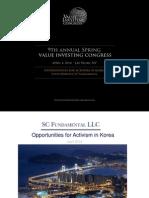 David Hurwitz Opportunities for Activism in Korea