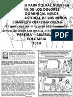 Hojita Evangelio Domingo v Cuaresma Ciclo a Bn