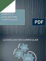 UNIDAD III EVALUACIÓN CURRICULAR