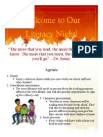 literacy night newsletter