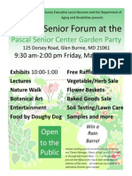 Pascal Center Senior Forum &  Garden Party