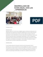 MODELO DESARROLLADO DE PROGRAMACIÓN ANUAL CON LAS RUTAS