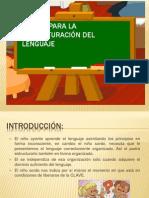 Claves para la estructuración del lenguaje