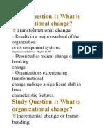 Organizational Change1