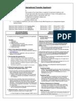 2014-2015 International Transfer Special Instructions