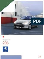 Peugeot 206 Brochure
