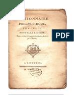 Voltaire - Diccionario Filosofico