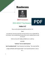 2013 ADULT Top Keywords