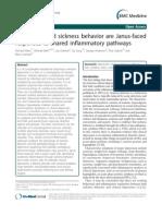Depression and Sickness Behavior Are Janus-Faced