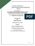 Technical analysis of Securities